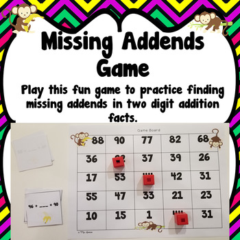 Missing Addends Game