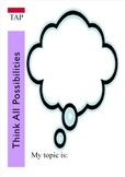 Think All Possibilities Graphic Organizer Any subject