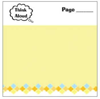 Think Aloud Mentor Text Planning Sticky Notes