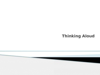 Think Aloud Strategy