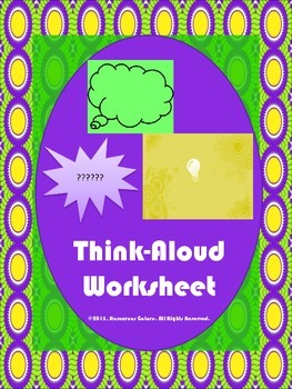Think-Aloud Worksheet