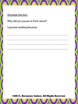 Think-Aloud Worksheet