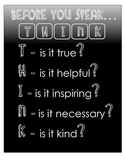 Think Before You Speak Printable