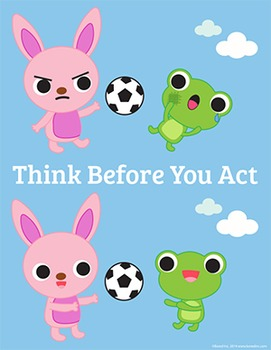 Think Before You Act! Poster 8 1/2 x 11