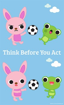 Think Before You Act! Poster 8 1/2 x 14
