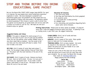 Stop and Think Before You Drink Education Pack