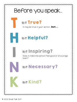 Think Before You Say It!