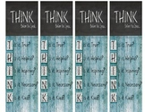 Think Before You Speak Book Marks.