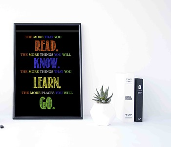 The More That You Read Classroom Decor Poster
