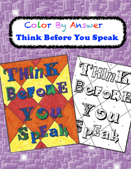 Think Before You Speak Color by Answer