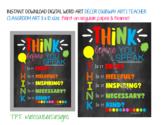 Think Before You Speak Cute Printable Classroom Decor