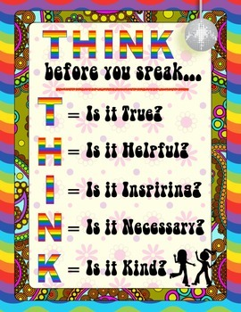 Think Before You Speak - Disco Style
