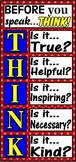 Think Before You Speak Free Printable Banner