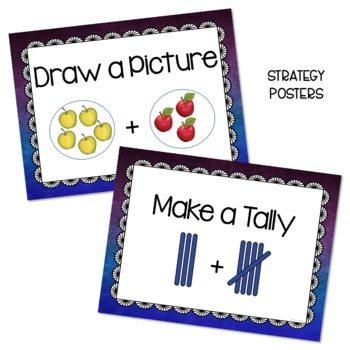 Addition Word Problems - Think Boards - Result Unknown - Sums to 10