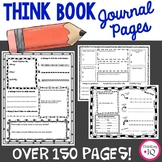 Student Journal Bundle | Think Book Reflection Pages