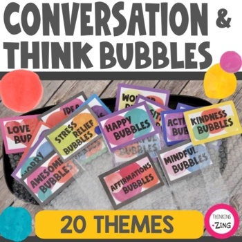 Think Bubbles Collection- Sharing & Counseling Activities