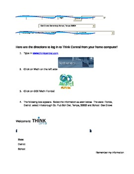 Think Central Login Directions for Students