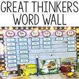 Word Wall Set - EDITABLE! Great Thinkers Classroom Decor