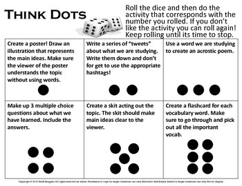 Think Dots Activities - Civics - History - Government - Review - Differentiation