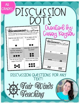 Discussion Dice - EDITABLE - Critical Thinking Questions