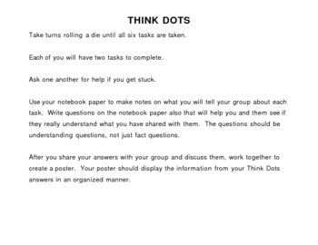 Think Dots Group Activity: Life Science
