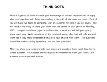 Think Dots Group Activity: Natural Resources