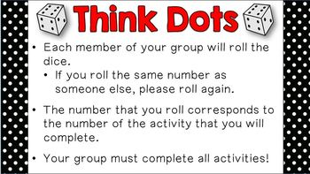 Historical Events Think Dots - Interactive Social Studies Review Activities