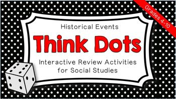 Historical Events Think Dots - Interactive Social Studies