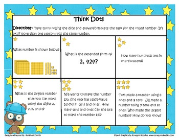 Think Dots: Place Value to the thousands