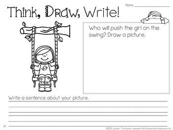 Think, Draw, Write! Beginning Writing Practice