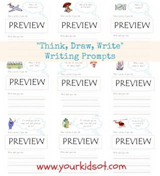 Think, Draw, Write...Writing Prompt Worksheet Bundle