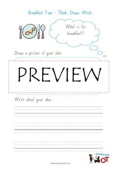 Think, Draw, Write...Writing Prompt Worksheet Bundle