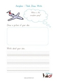 Think, Draw and Write: Aeroplane