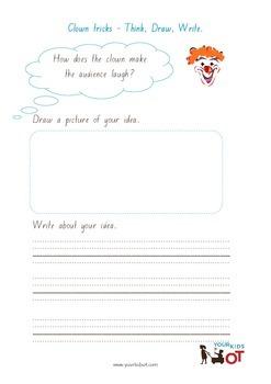 Think, Draw and Write: Clown Tricks