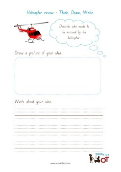 Think, Draw and Write: Helicopter Rescue