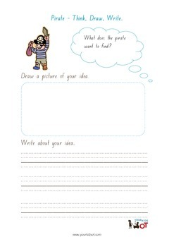 Think, Draw and Write: Pirate