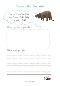 Think, Draw and Write: Triceratops