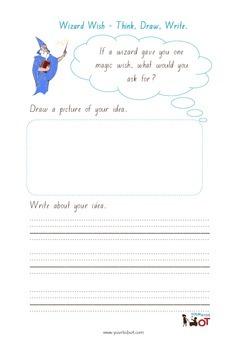 Think, Draw and Write: Wizard wish