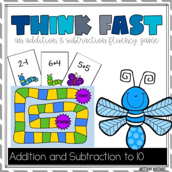 Think Fast (An Addition and Subtraction Fluency Game)