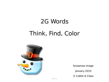 Think, Find, Color Sight Words - Snowman Image