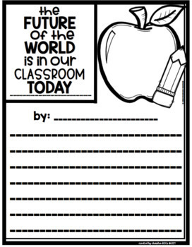 Think Happy Thoughts Bulletin Board Kit- August- The Future of the World