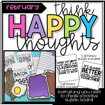 Think Happy Thoughts Bulletin Board Kit- February-Better Together