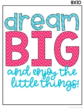 Think Happy Thoughts June- Dream BIG {and enjoy the little things}