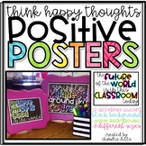 Think Happy Thoughts Positive Posters