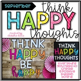 Think Happy Thoughts Bulletin Board Kit- September- Think Happy Thoughts