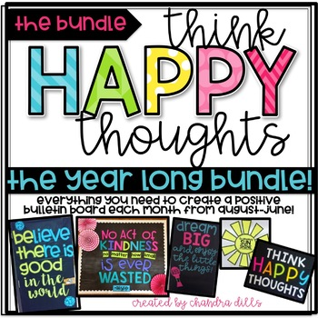 Think Happy Thoughts- THE YEAR LONG {growing} BUNDLE!