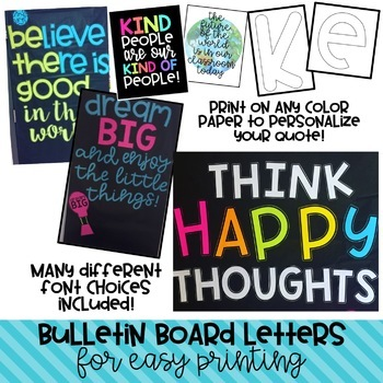 Think Happy Thoughts- THE YEAR LONG BUNDLE! Bulletin Board Kits