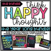 Positive Bulletin Boards- Think Happy Thoughts- The Bundle`