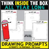Think INSIDE the Box Drawing Prompts - ALL YEAR LONG