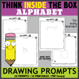 Think INSIDE the Box Drawing Prompts - ALPHABET (EARLY LEARNERS)